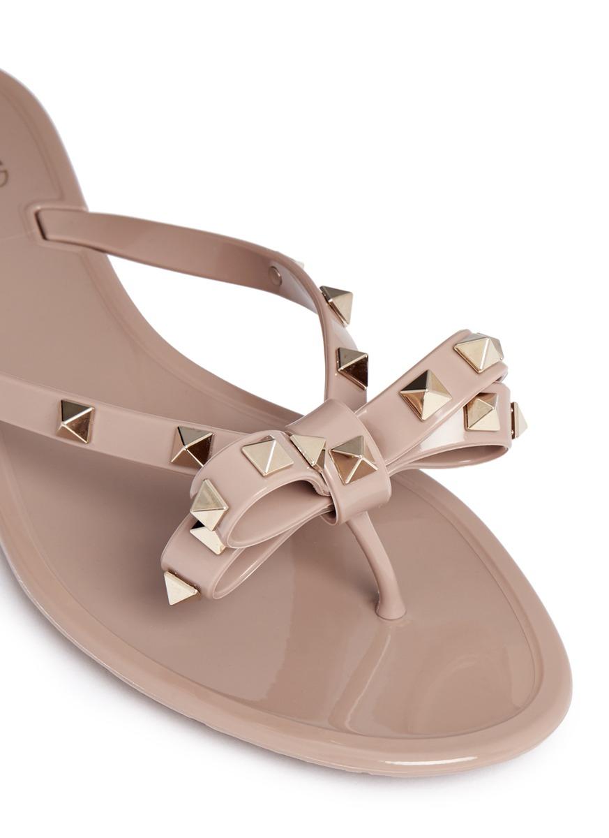 Valentino Rubber Rockstud PVC Sandals