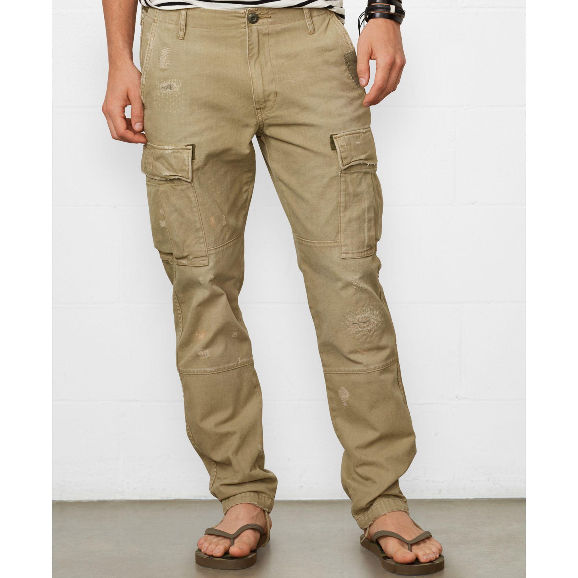Denim & supply ralph lauren Tapered Cotton Cargo Pants in Green ...