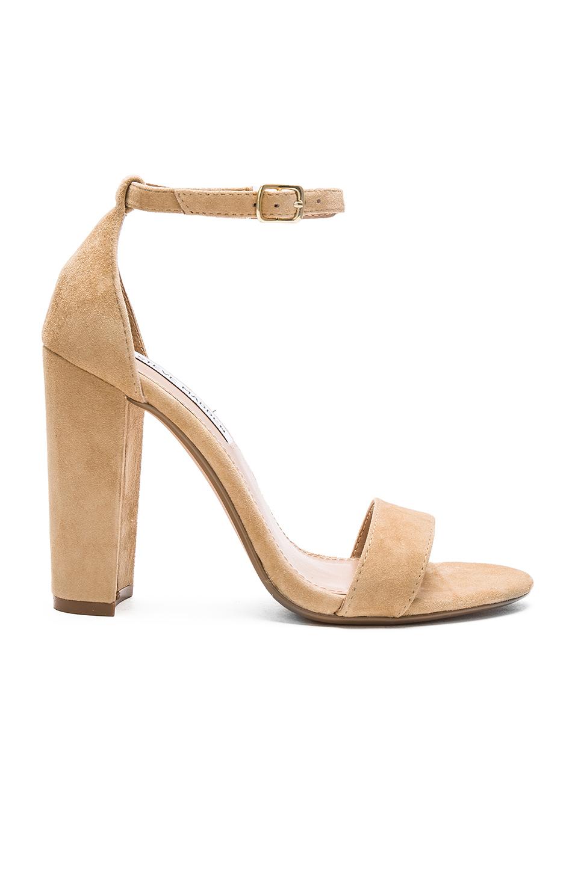 29d2a365333 Steve Madden Natural Carrson Suede Heeled Sandals