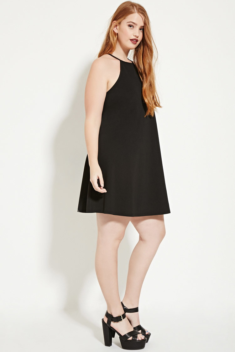 Forever 21 Black Plus Size Textured Cami Dress
