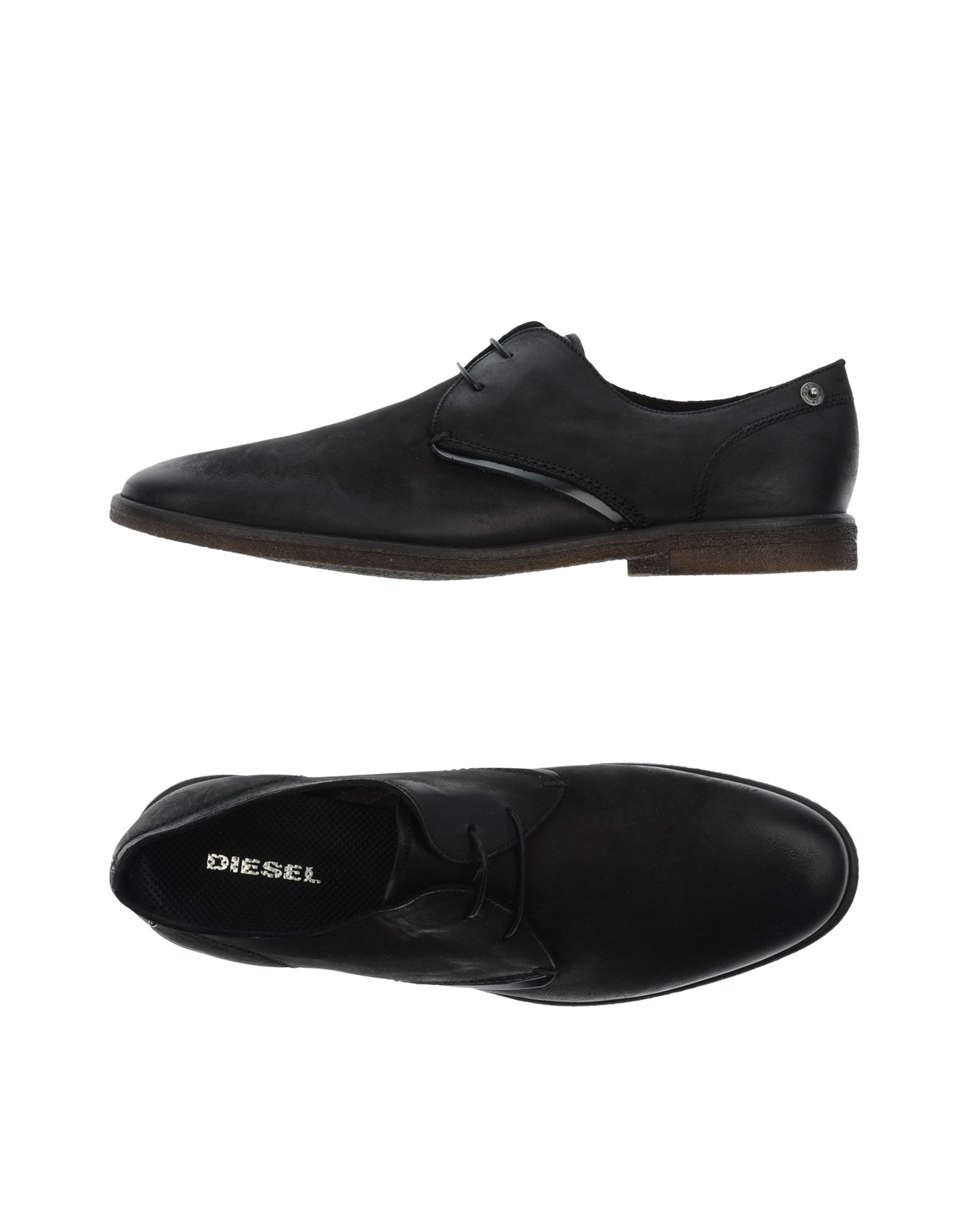 diesel laceup shoes in black for men save 35 lyst