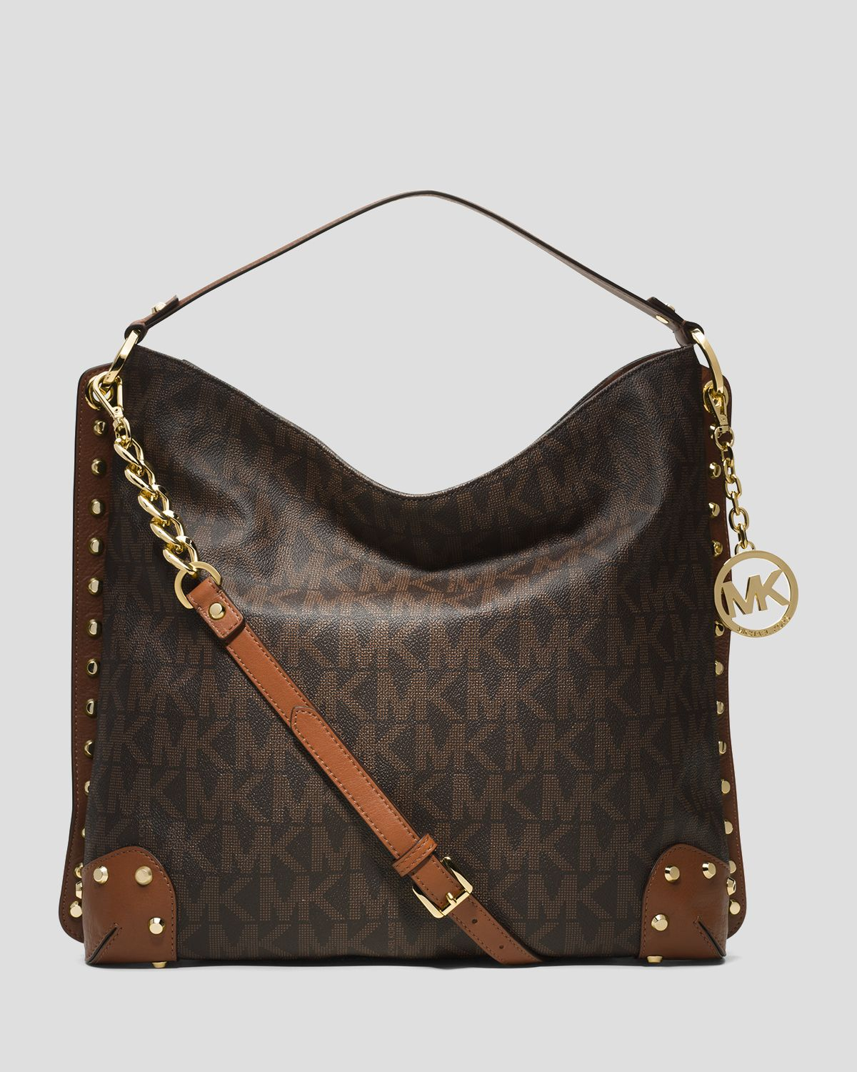 9929b00d9131 ... ireland lyst michael michael kors shoulder bag serena large in brown  bf3aa bb7d2