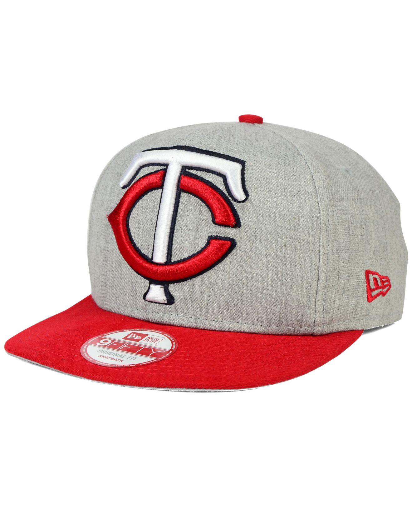reputable site c2757 b6a0d Lyst - KTZ Minnesota Twins Logo Grand 9fifty Snapback Cap in Gray ...