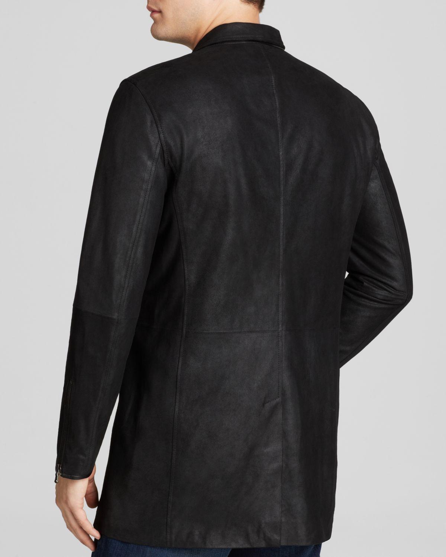 John Varvatos Usa Leather Duster Jacket in Black for Men