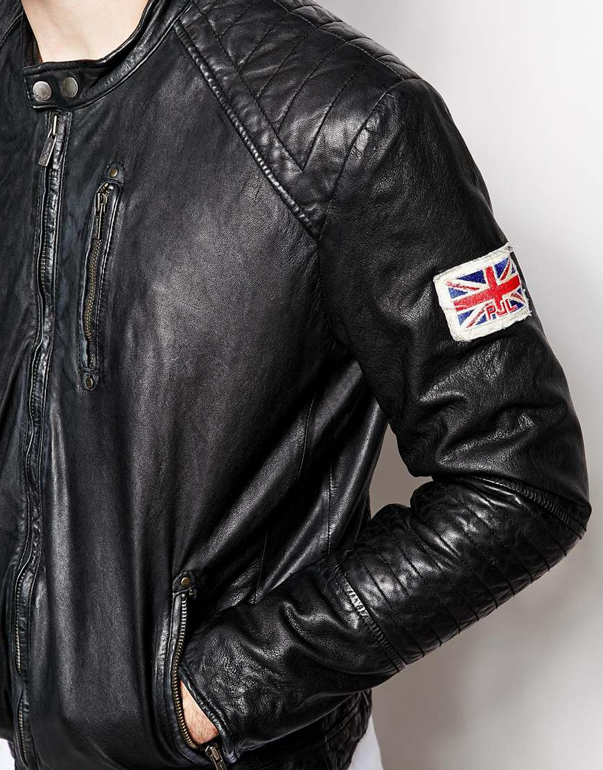 lowest price e5146 f7644 Pepe Jeans Pepe Leather Jacket New Lennon Slim Fit Biker in ...