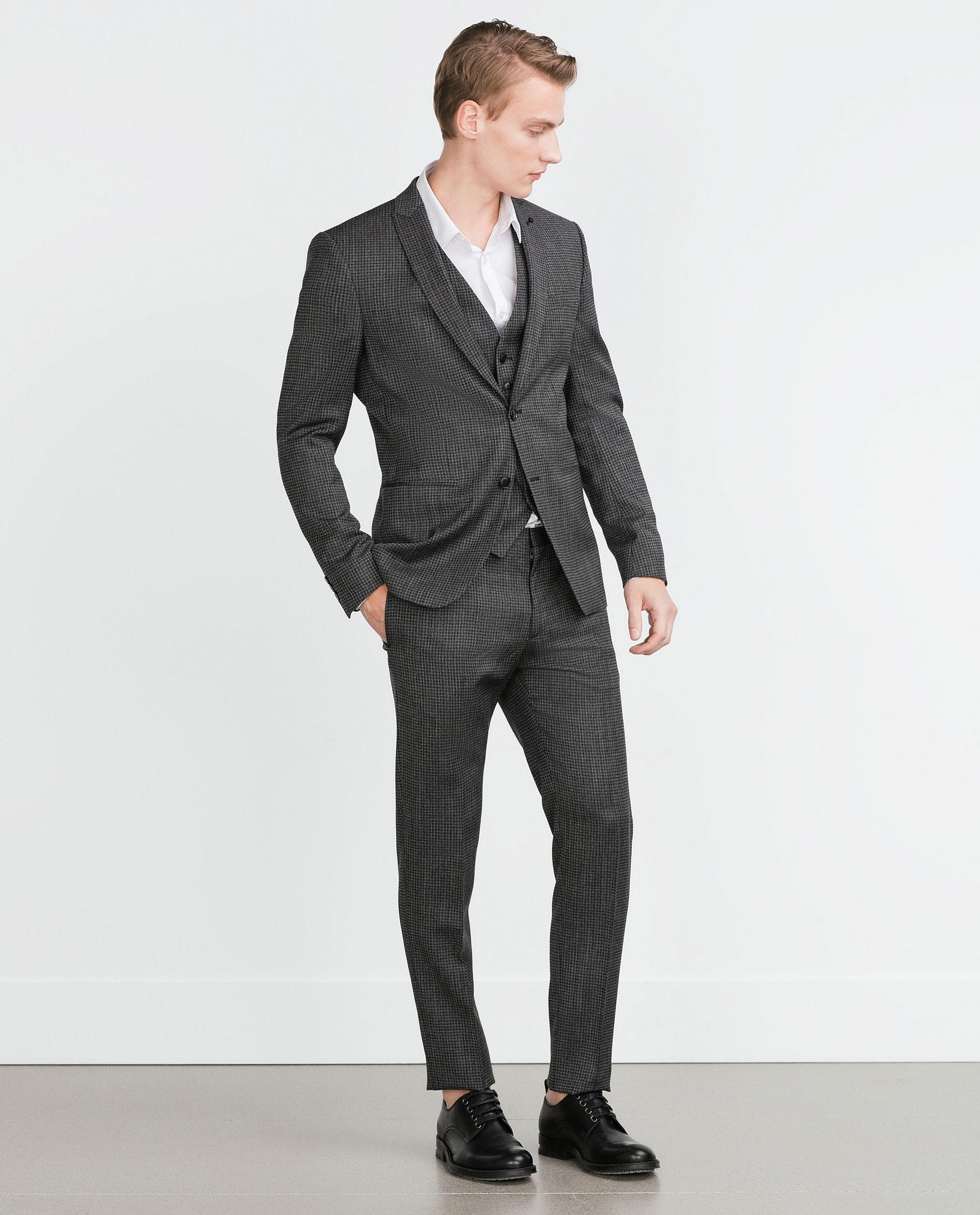 Dark Grey Wool Suit Dress Yy