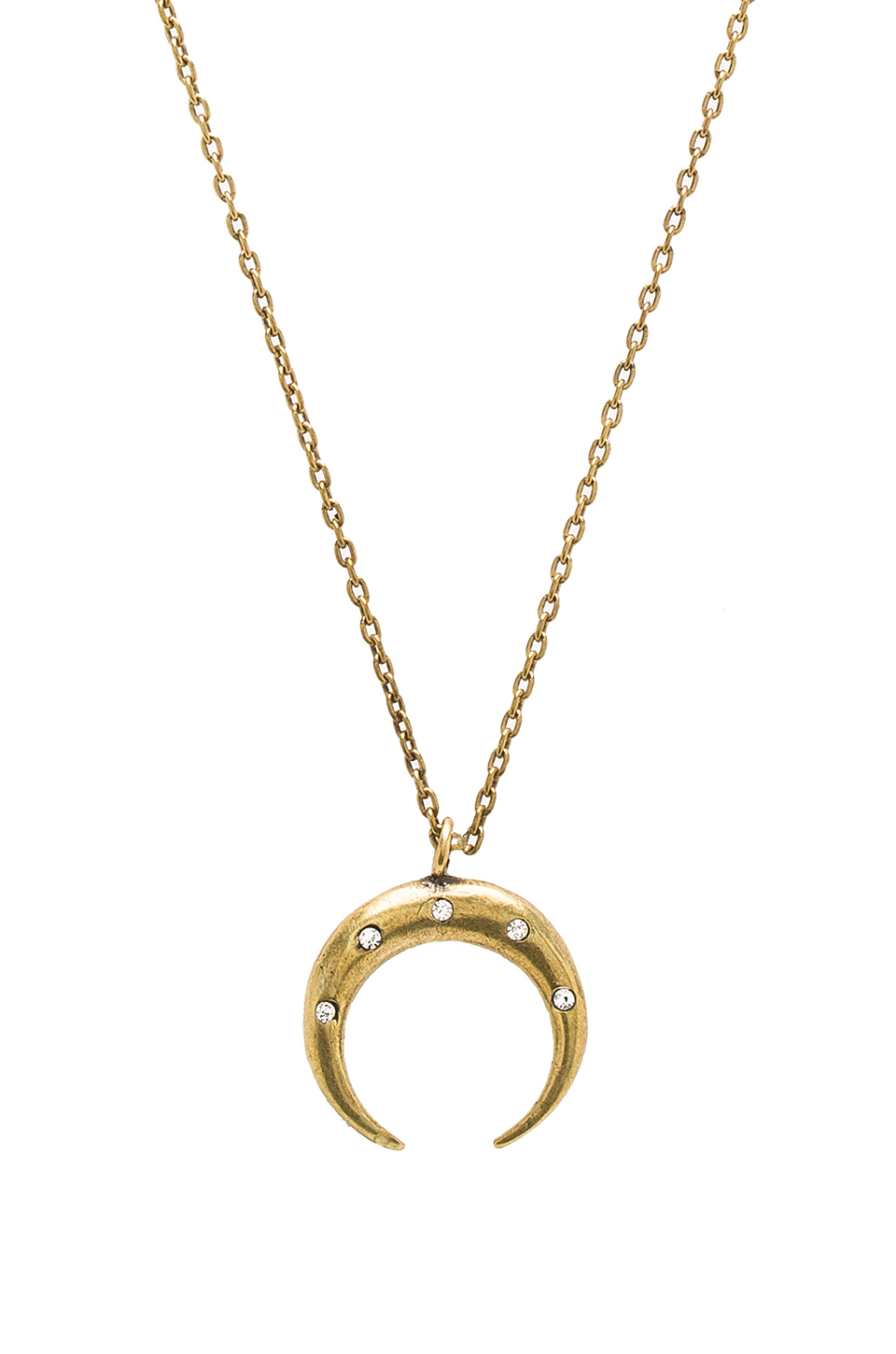 Lyst - Torchlight Diamond Crescent Moon Necklace in Metallic