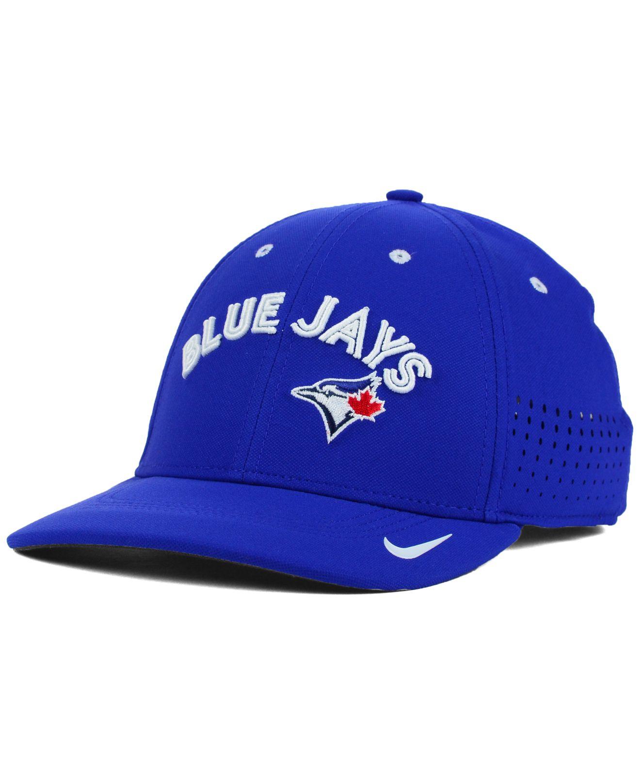 f9e61226f9b Lyst - Nike Toronto Blue Jays Vapor Swoosh Flex Cap in Blue for Men