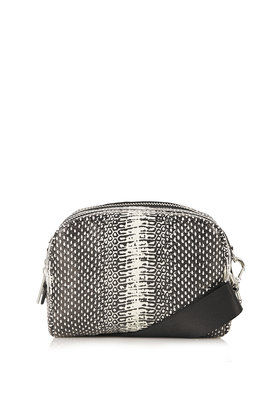 194d64157f7f Lyst - TOPSHOP Sporty Snake-Effect Crossbody Bag in Black