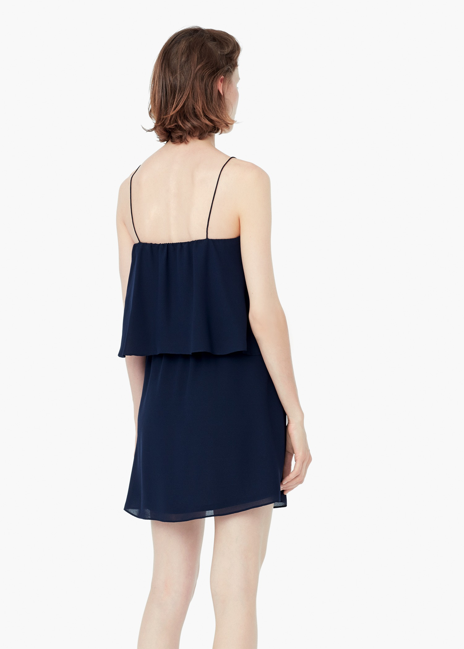 Navy Blue Ruffle Dress