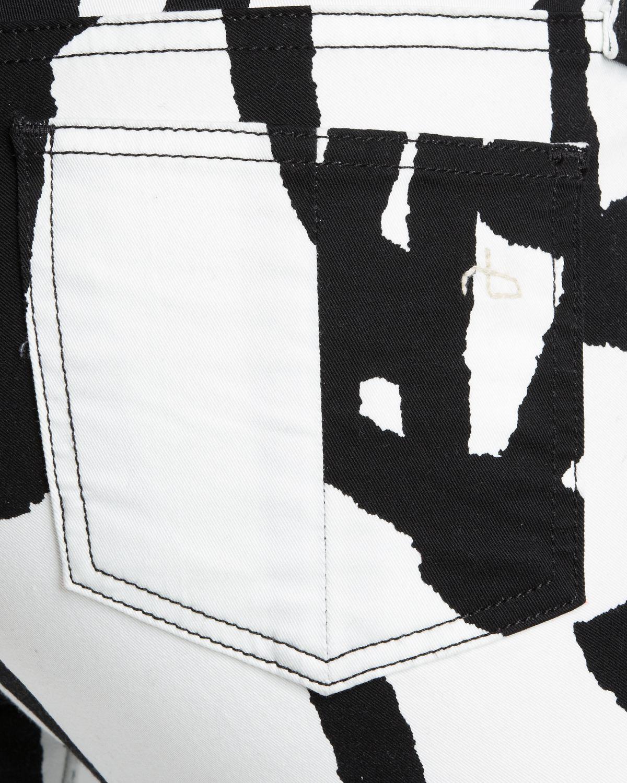 Rag & Bone Jeans The Legging in White Robot