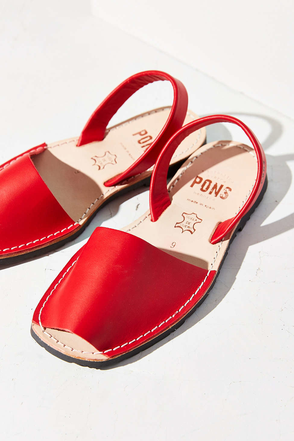 Pons Avarcas Classic Sandal In Red Lyst