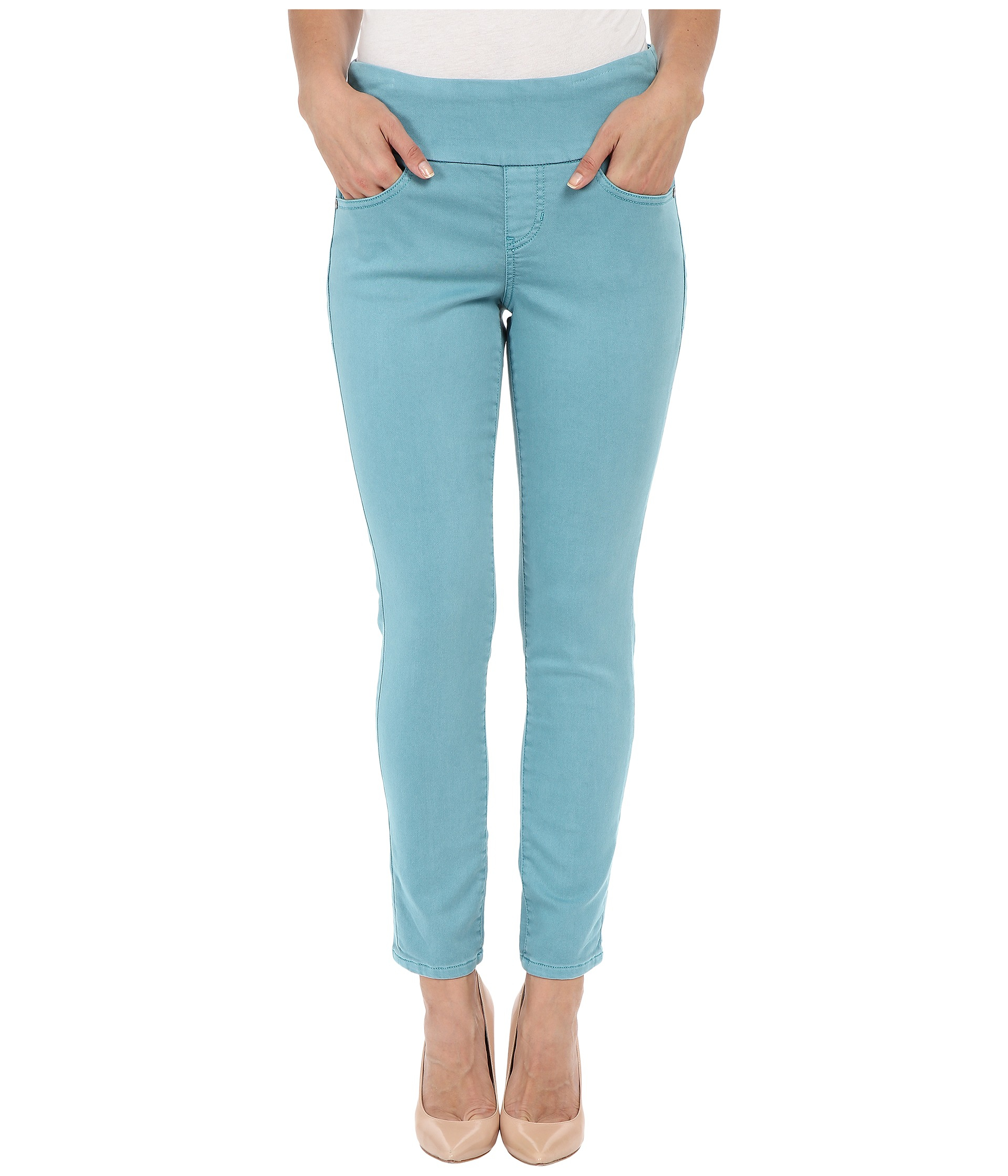 Jag jeans Amelia Ankle Pigment Dyed Knit Denim In Oceana in Blue ...