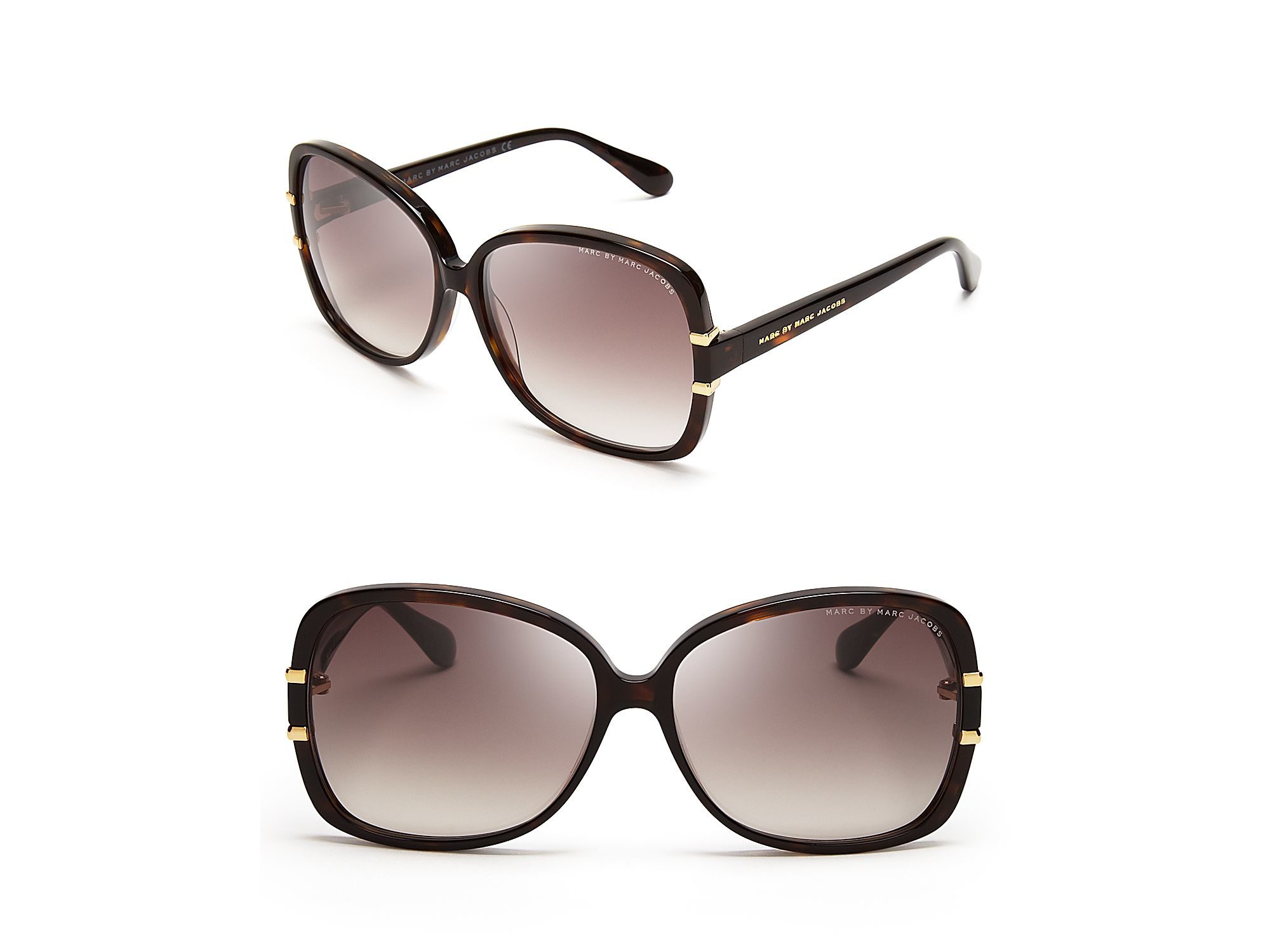 f74d060d6e Lyst - Marc By Marc Jacobs Oversized Sunglasses in Brown