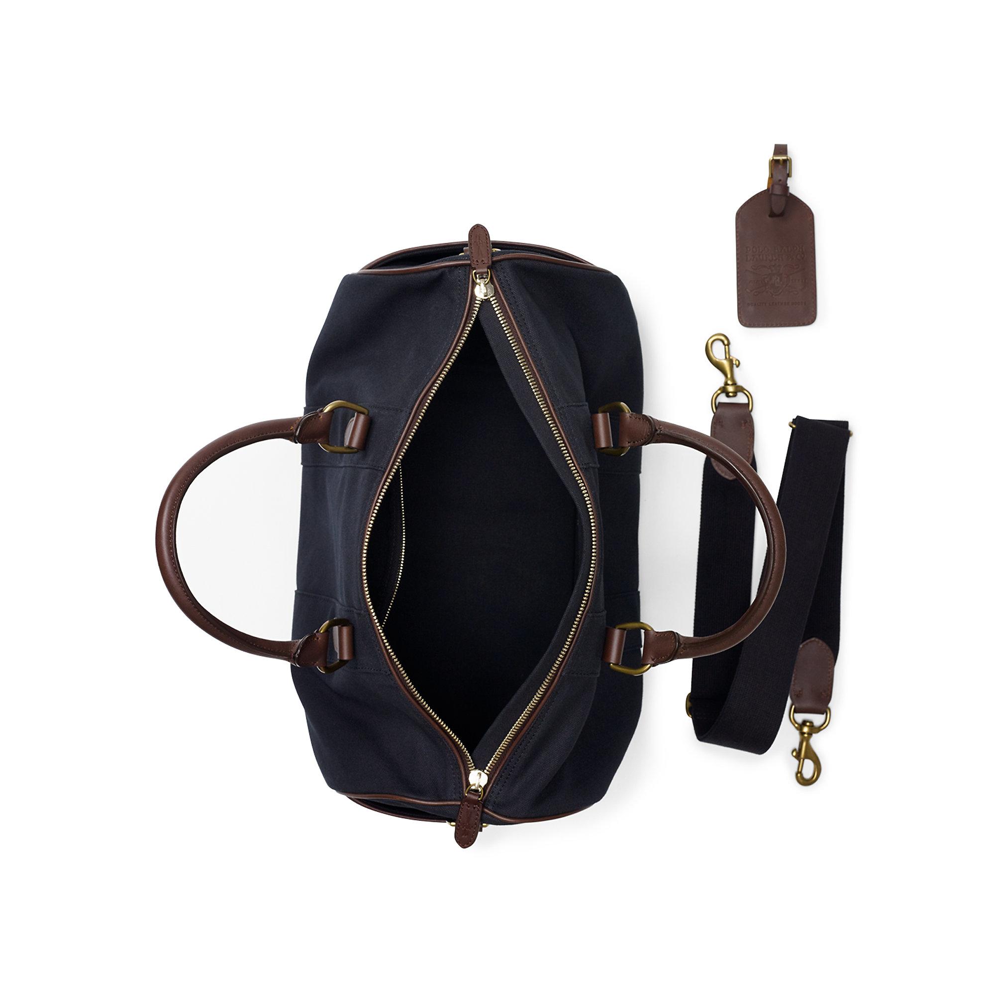 7d9e01dd82e6 ... netherlands lyst ralph lauren canvas duffel bag in black for men fac5e  e93c6
