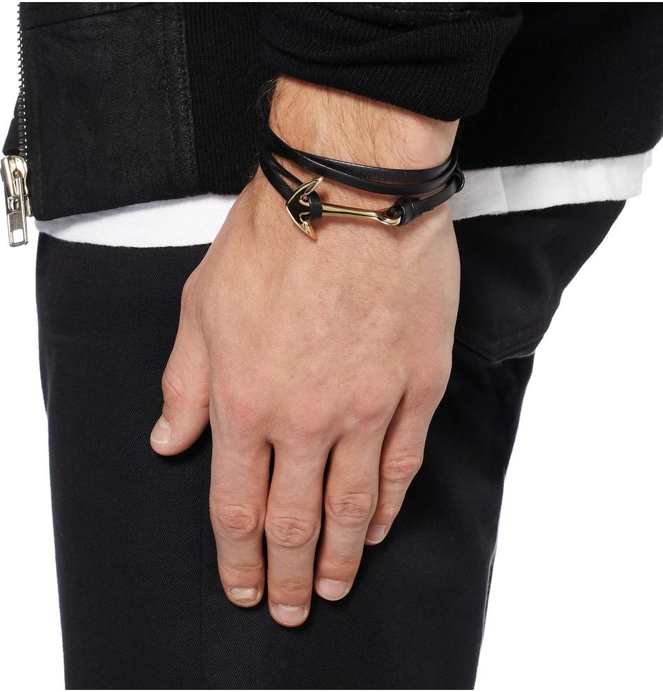 Miansai Black Hook on Leather Bracelet 9LRlSxXto