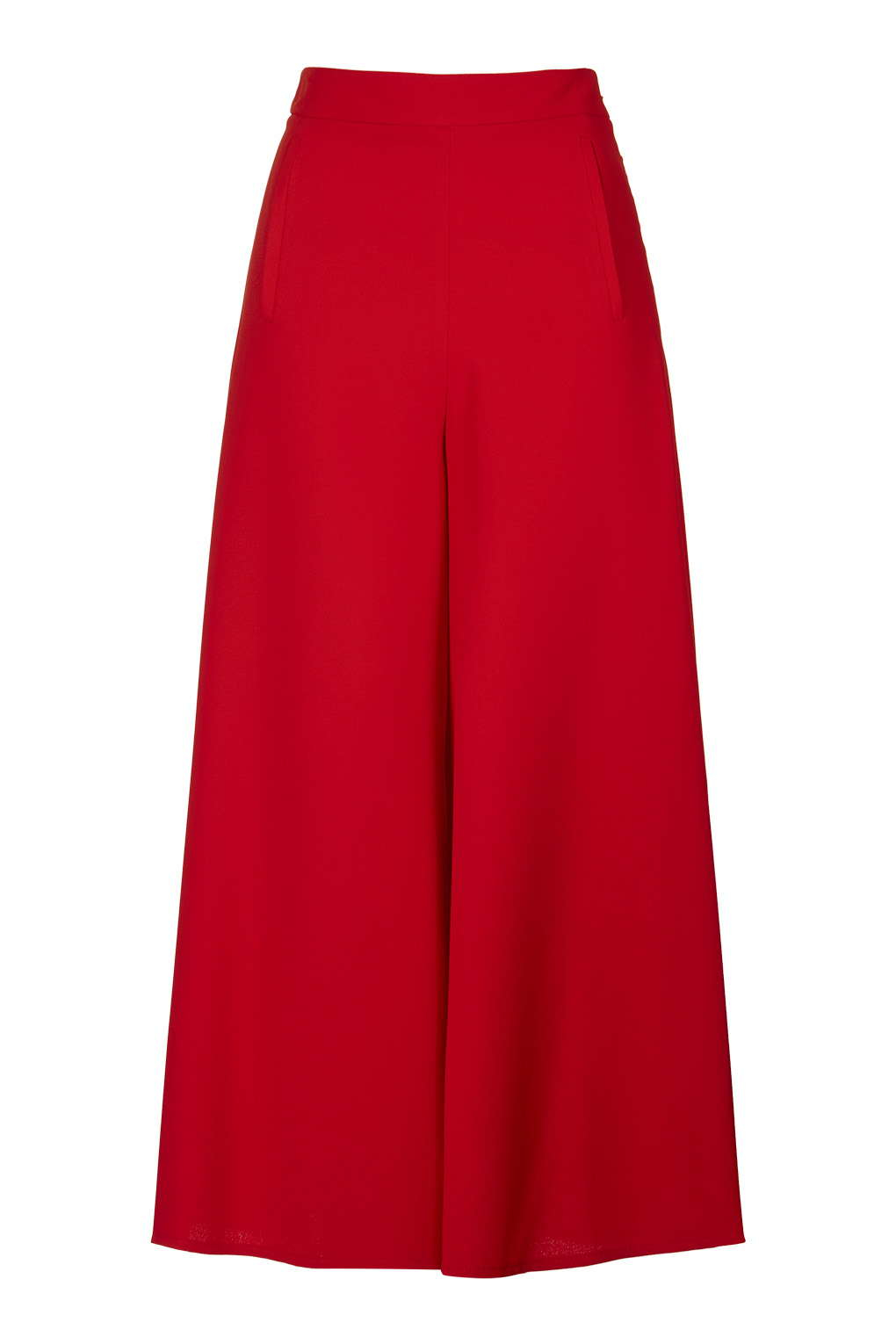 Topshop Wide Leg Palazzo Trousers in Red | Lyst
