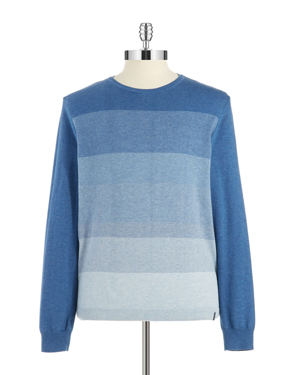 calvin klein ombre pullover in blue for men lyst. Black Bedroom Furniture Sets. Home Design Ideas