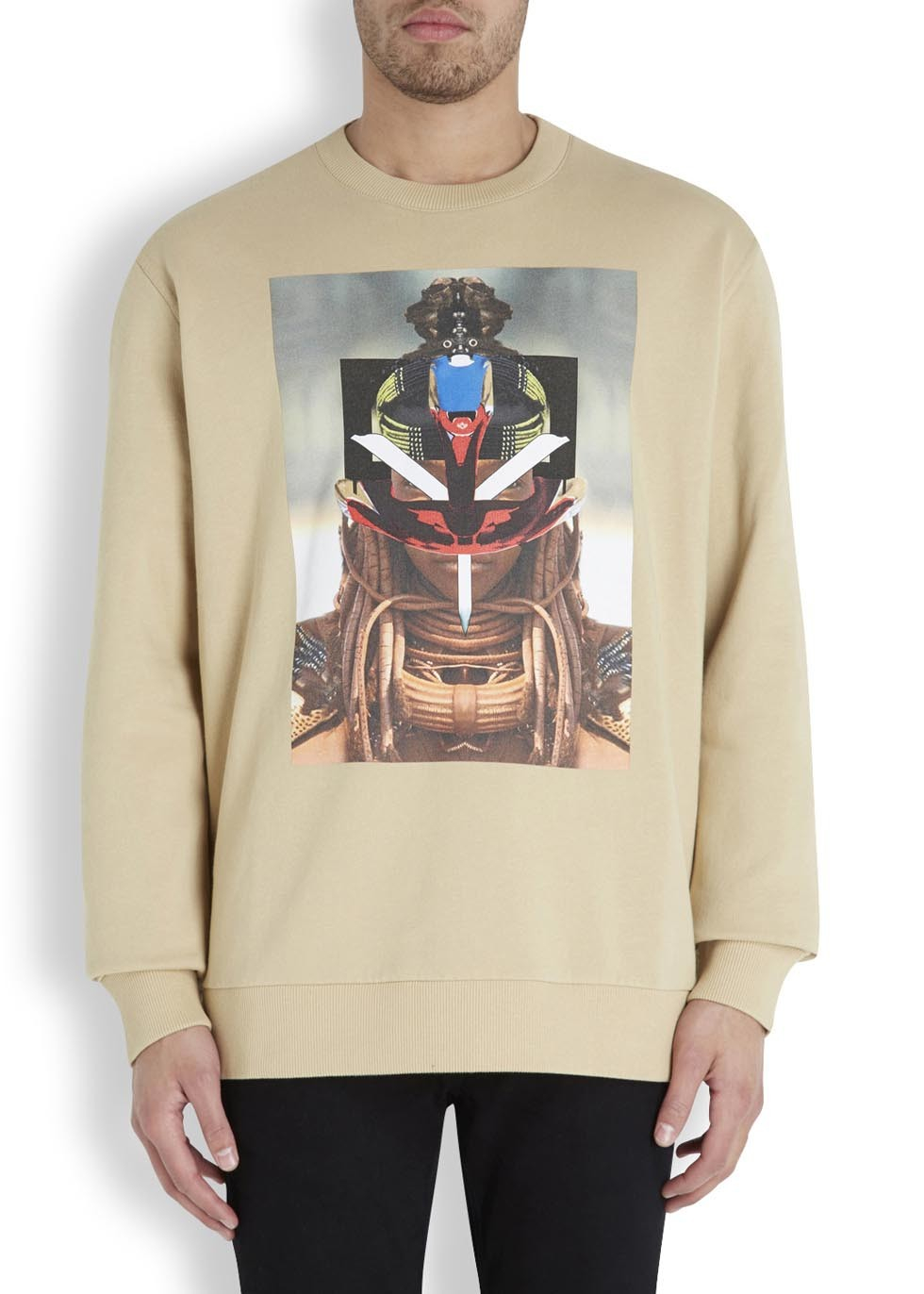 Givenchy Graphic Print Sweater in Beige (Natural) for Men