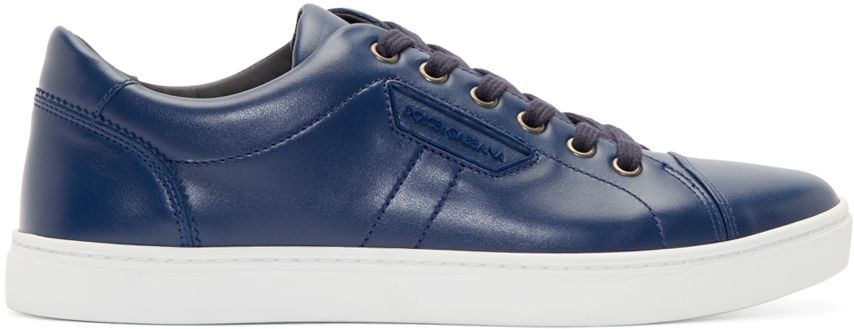 2a9c9923b Dolce & Gabbana Blue Leather London Sneakers for men