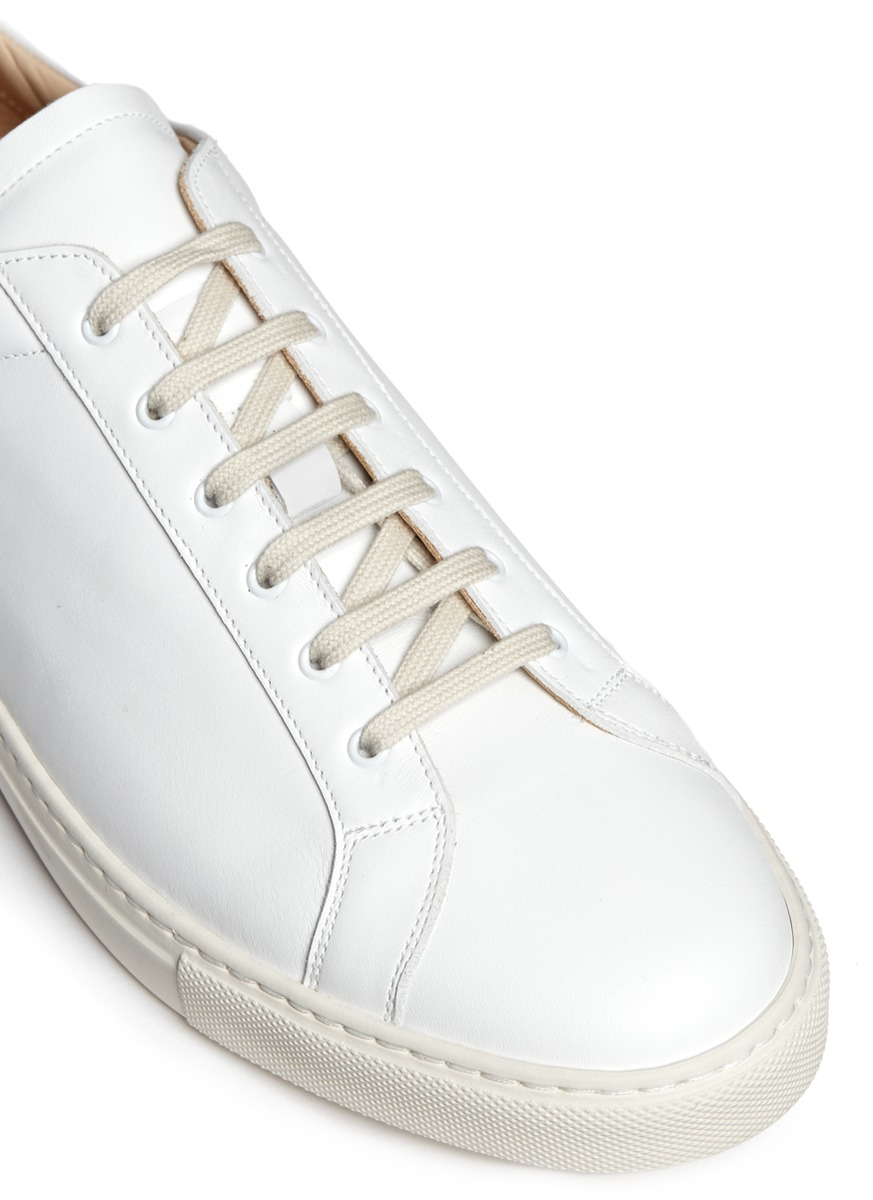 common projects 39 achilles retro 39 nappa leather sneakers in white for men lyst. Black Bedroom Furniture Sets. Home Design Ideas