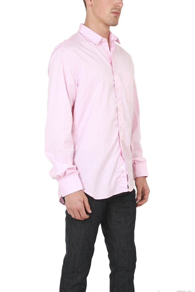 Blue Cream Pinpoint Button Down Shirt In Pink Lyst