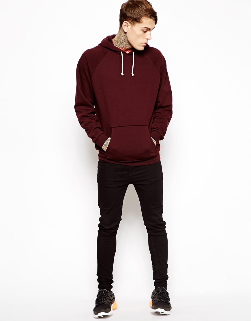 Lyst Asos Hoodie In Oversized Fit In Red For Men