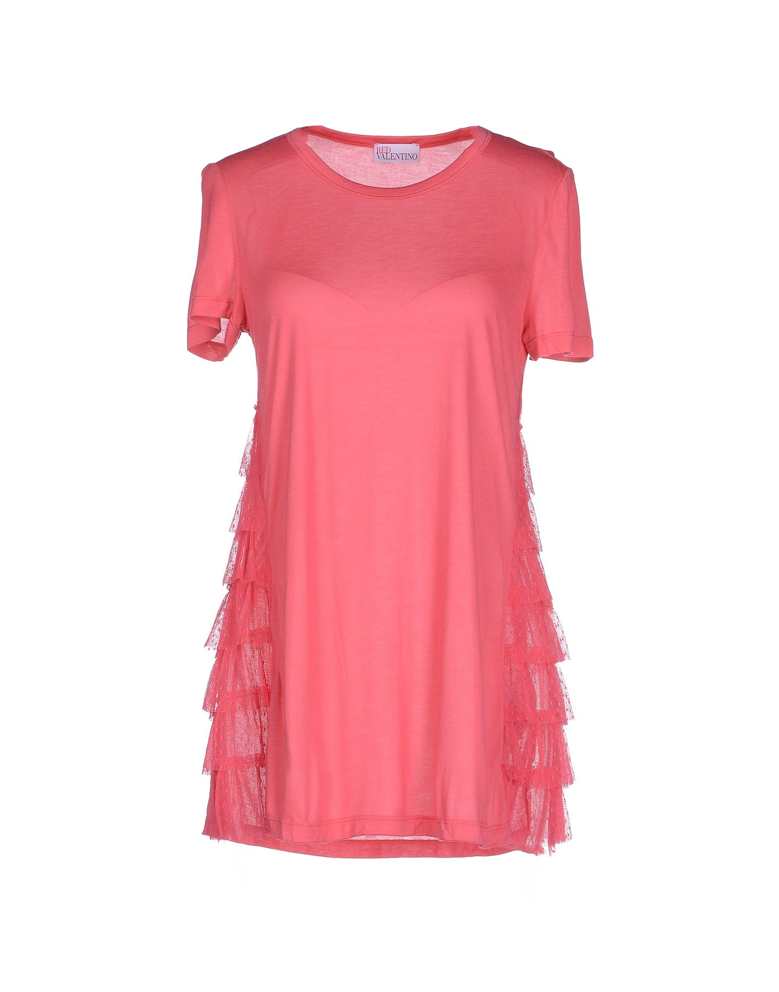 Red valentino t shirt in pink lyst for Red valentino t shirt