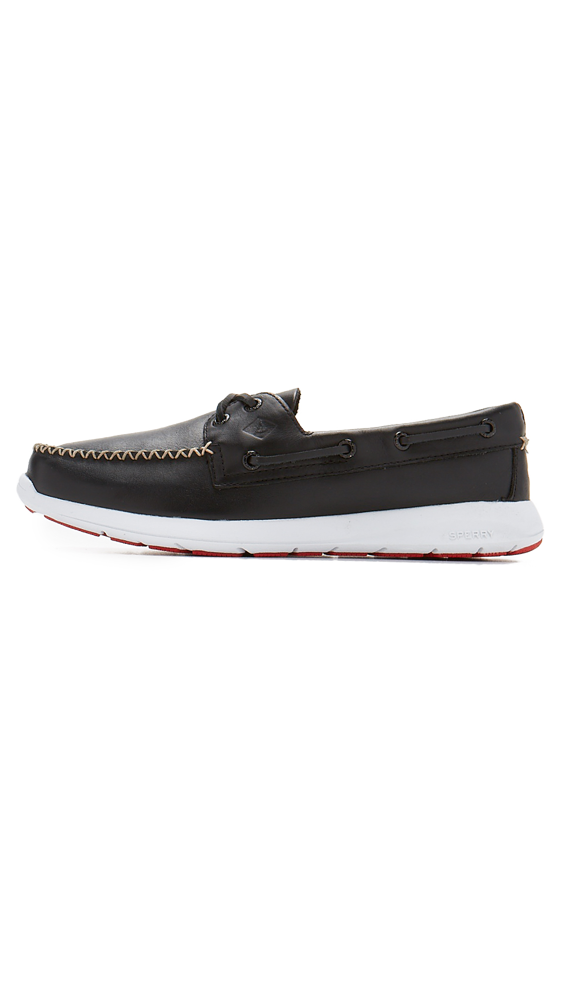 Sperry Top-Sider Paul Sojourn 2 Eye Leather Boat Shoes in Black for Men