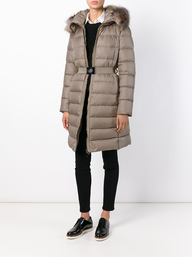 3a35a1182669 Lyst - Moncler Bellette Quilted Jacket in Natural
