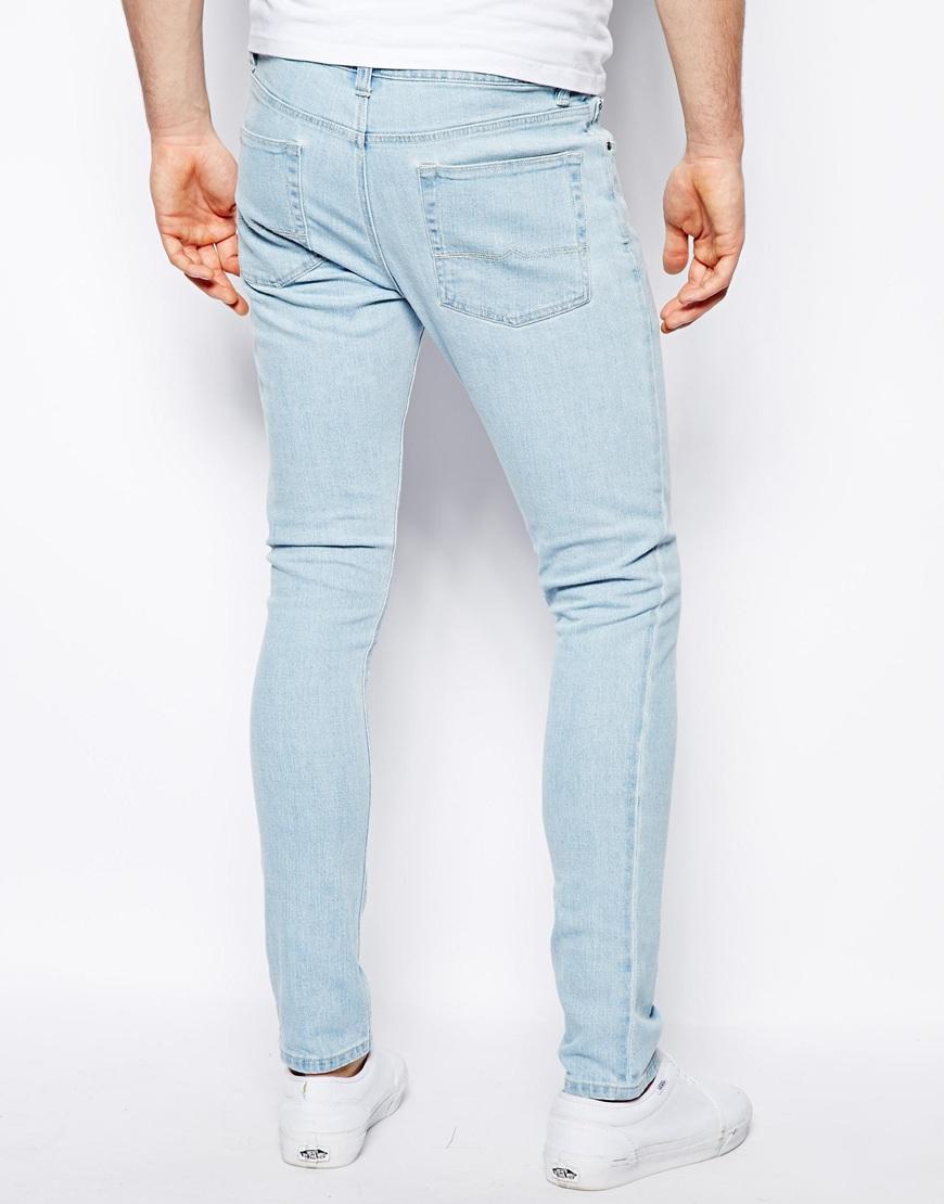 Light bleach wash skinny jeans