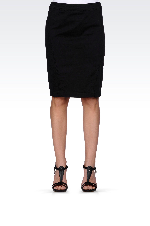 armani pencil skirt in stretch cotton in black lyst