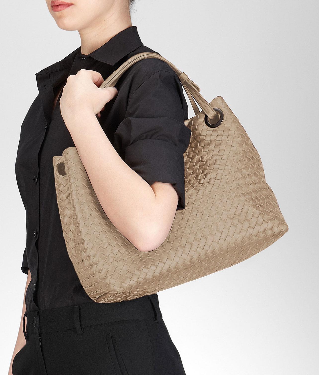 bottega veneta handbags on sale - Bottega veneta Walnut Intrecciato Nappa  Bag in Natural (WALNUT ddbfe0387cc8f