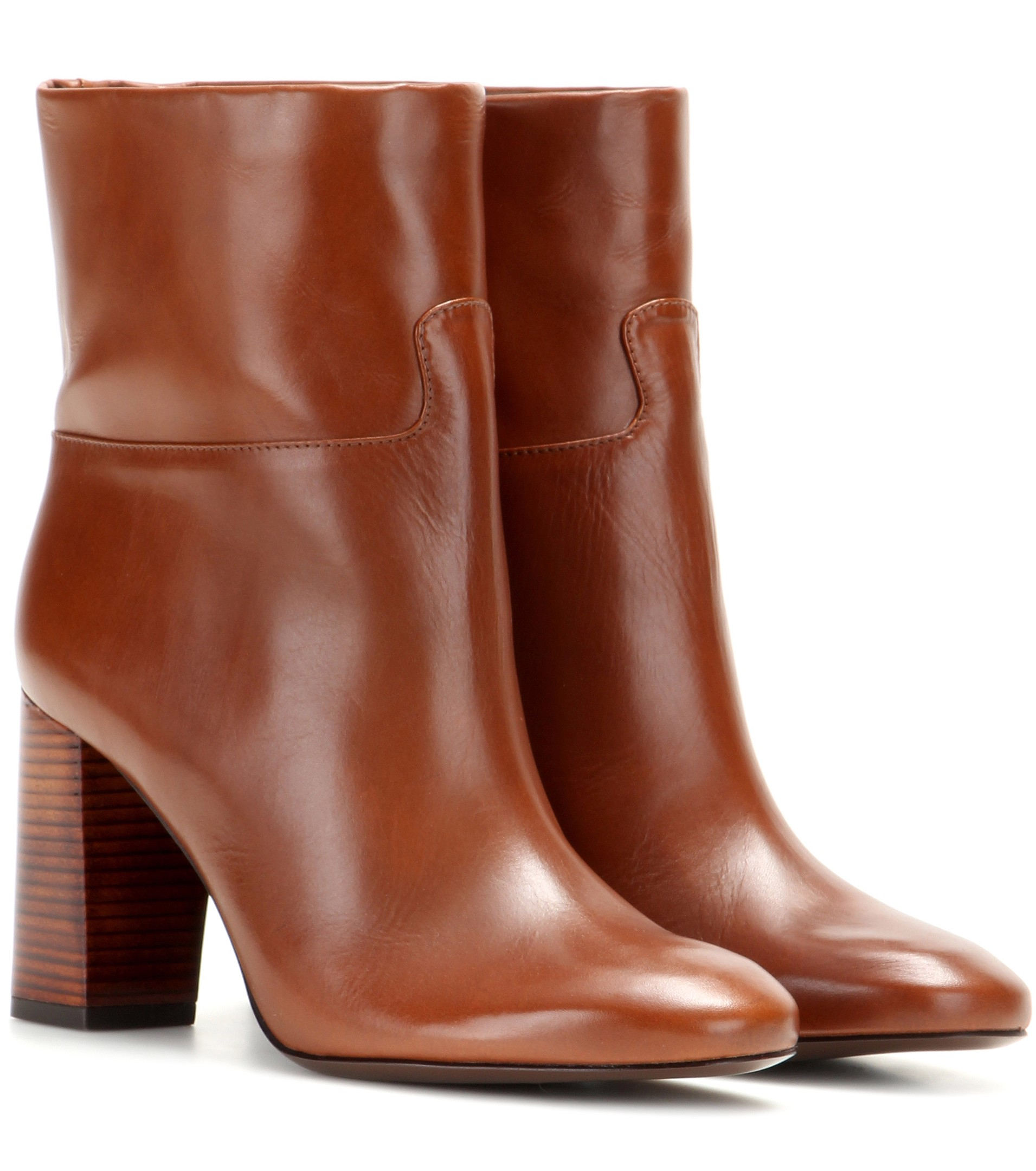 0eb6c757d9352 Lyst - Tory Burch Devon Leather Ankle Boots in Brown