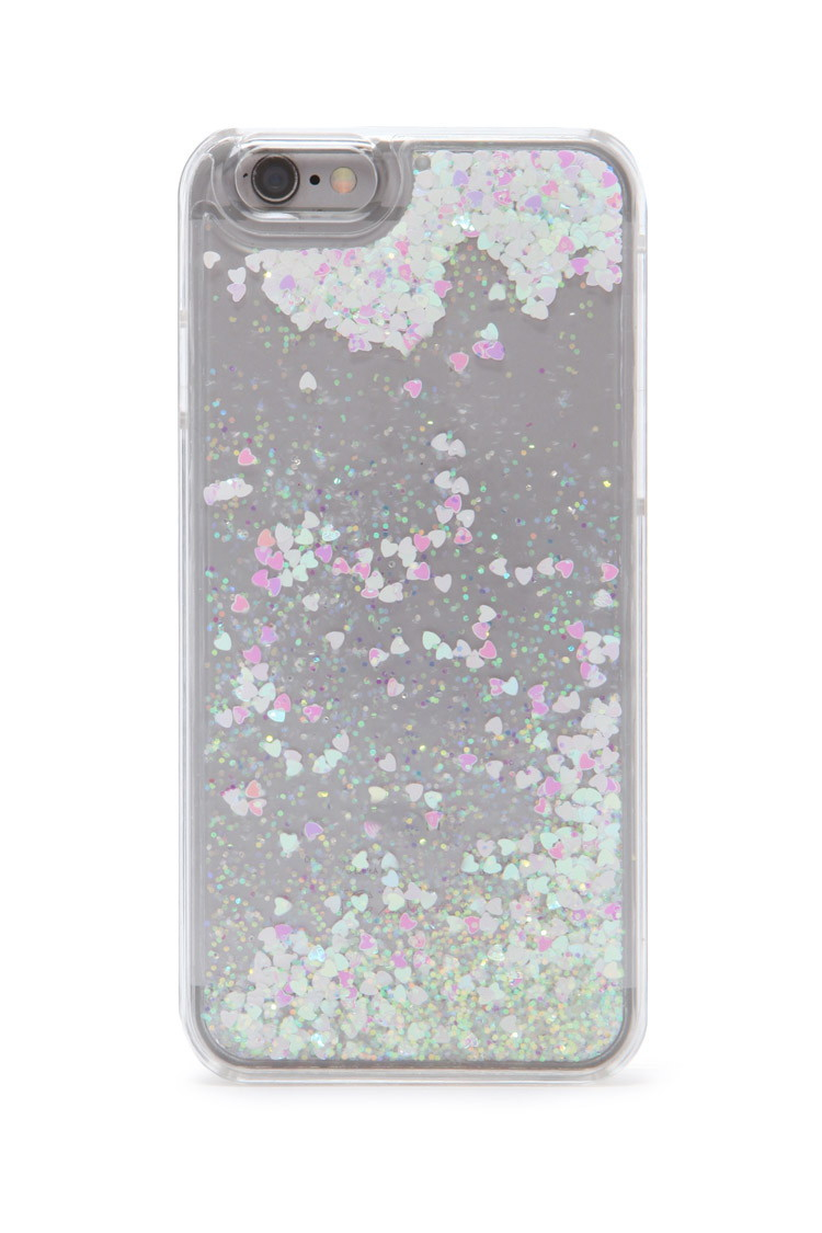 best website 54f6a bfd48 Forever 21 Glitter Case For Iphone 6 in Pink - Lyst