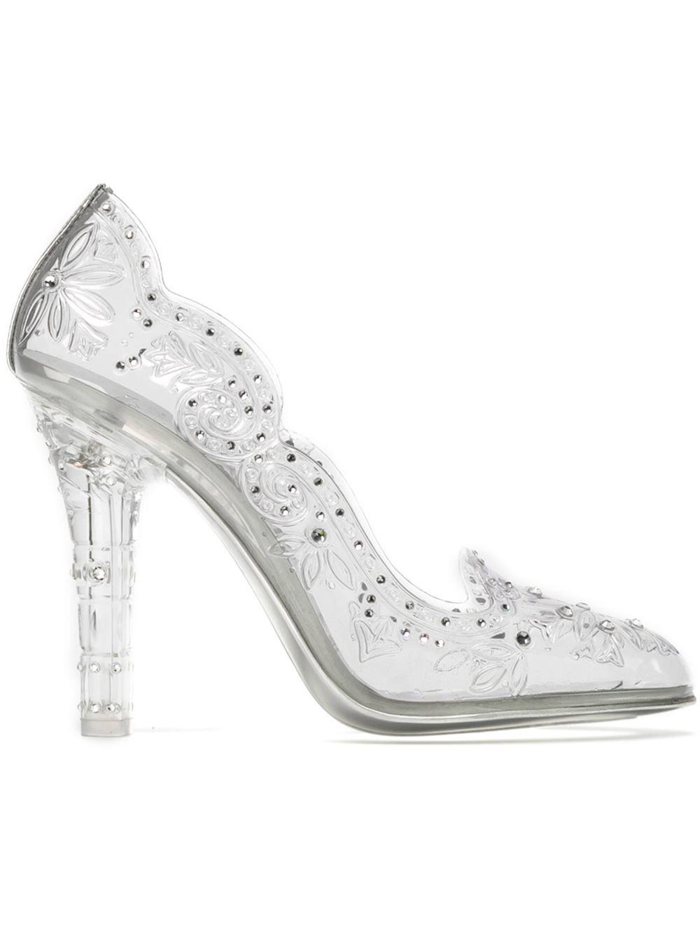 Dolce \u0026 Gabbana Embellished Clear Pumps