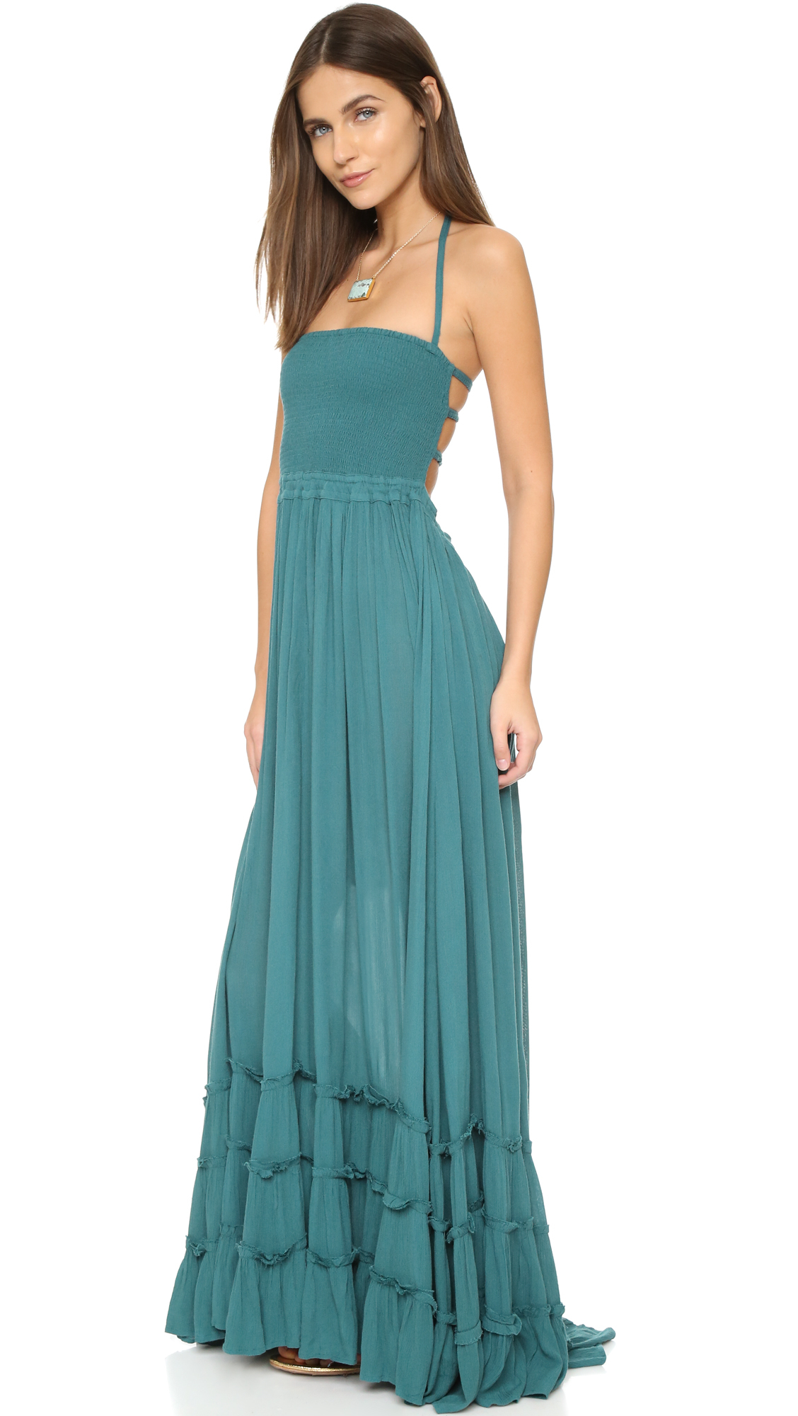 06758f74546 Free People Extratropical Dress - Deep Teal in Blue - Lyst
