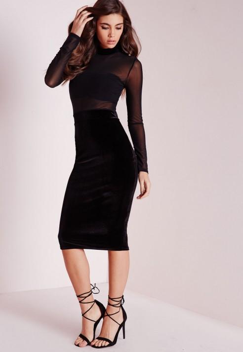 960b641ee61 Turmec » long sleeve velvet midi dress