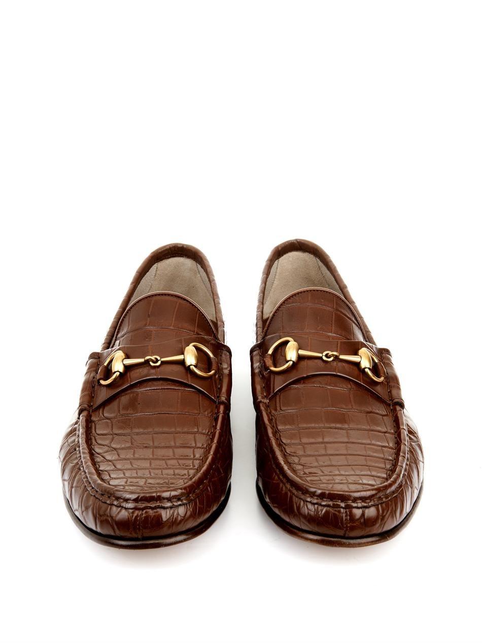 5d760dac9d2 Lyst gucci crocodile horsebit loafers in brown for men jpg 950x1267 Gucci  mens crocodile boots