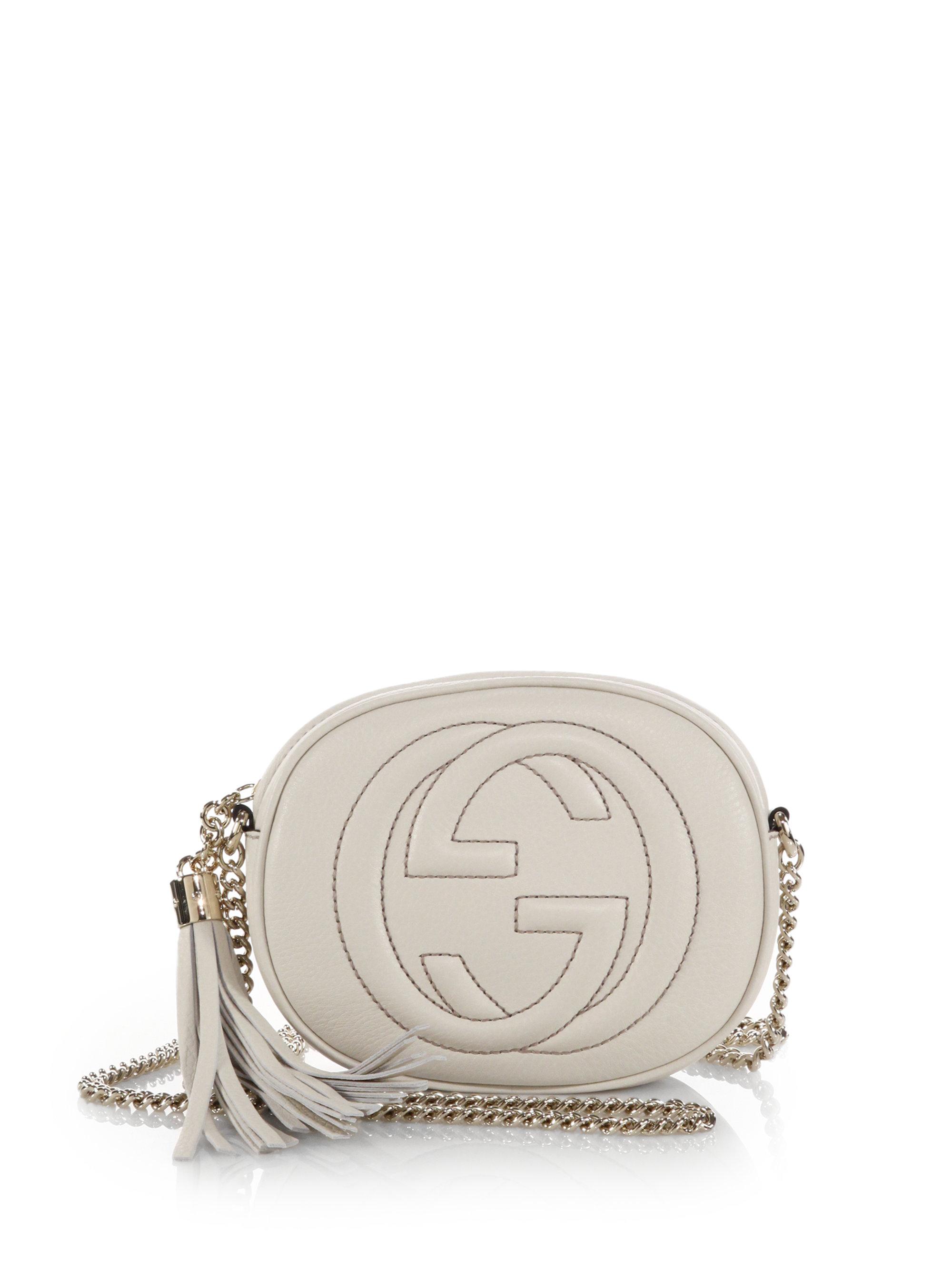 36a62597 Gucci White Soho Leather Mini Chain Bag