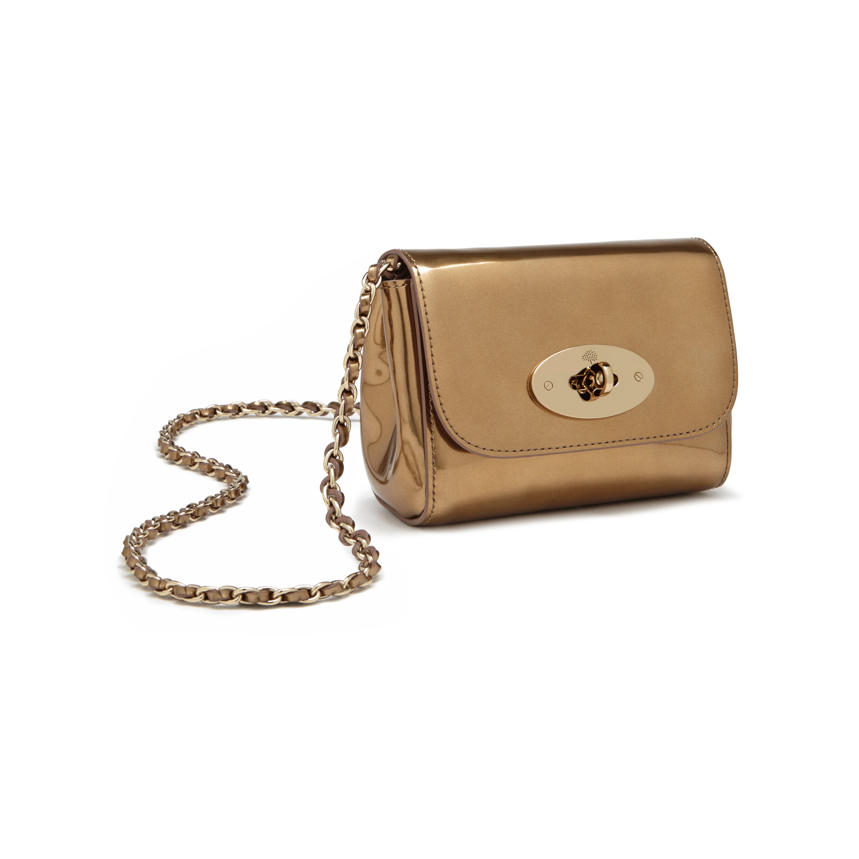 ... inexpensive lyst mulberry lily mini metallic patent leather shoulder  bag in metallic 6849b fb82b 3fb8039391ebc