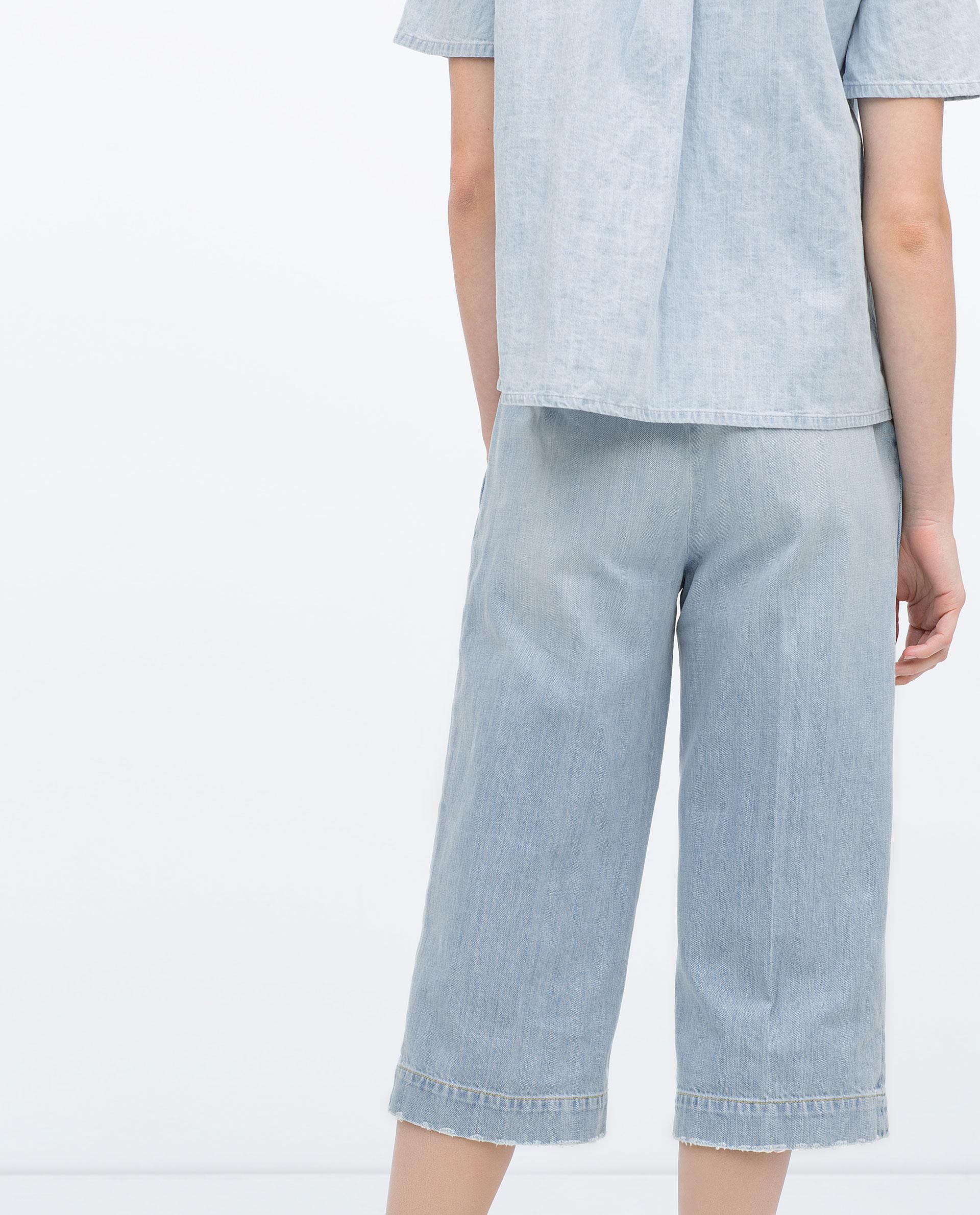 Cool Zara Zipped Cargo Trousers In Green  Lyst