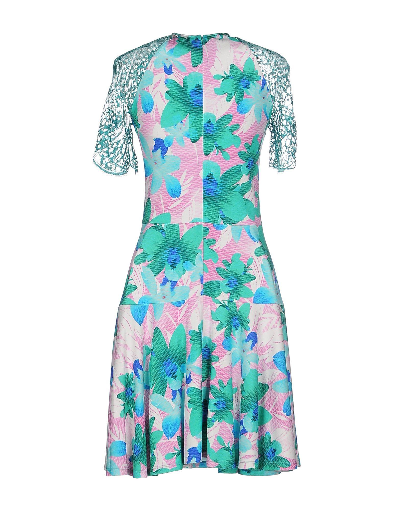 Matthew Williamson Woman Pompom-trimmed Printed Silk Mini Dress Turquoise Size 6 Matthew Williamson Pictures Online g8dJbCP6Ae