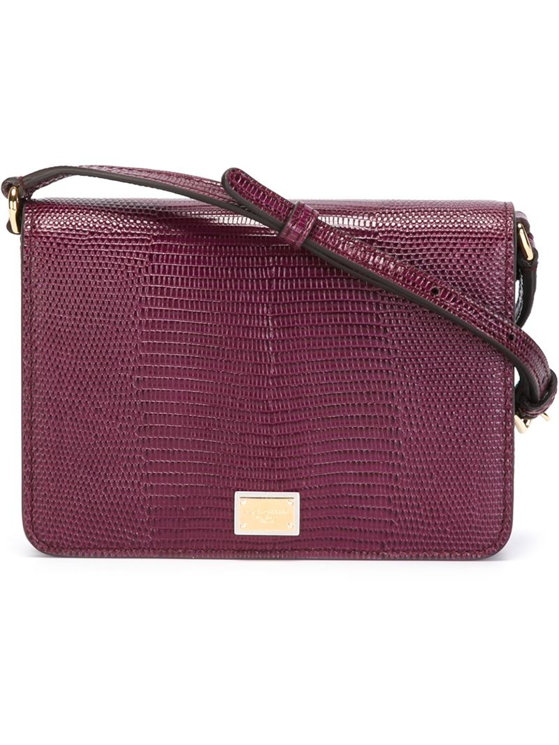 3e1a4bf3c4ed Dolce   Gabbana  Glam  Crossbody Bag in Purple - Lyst