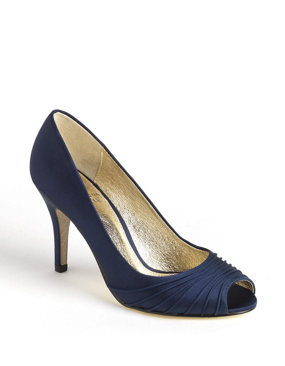 Navy Blue Pumps Shoes Womens Designer