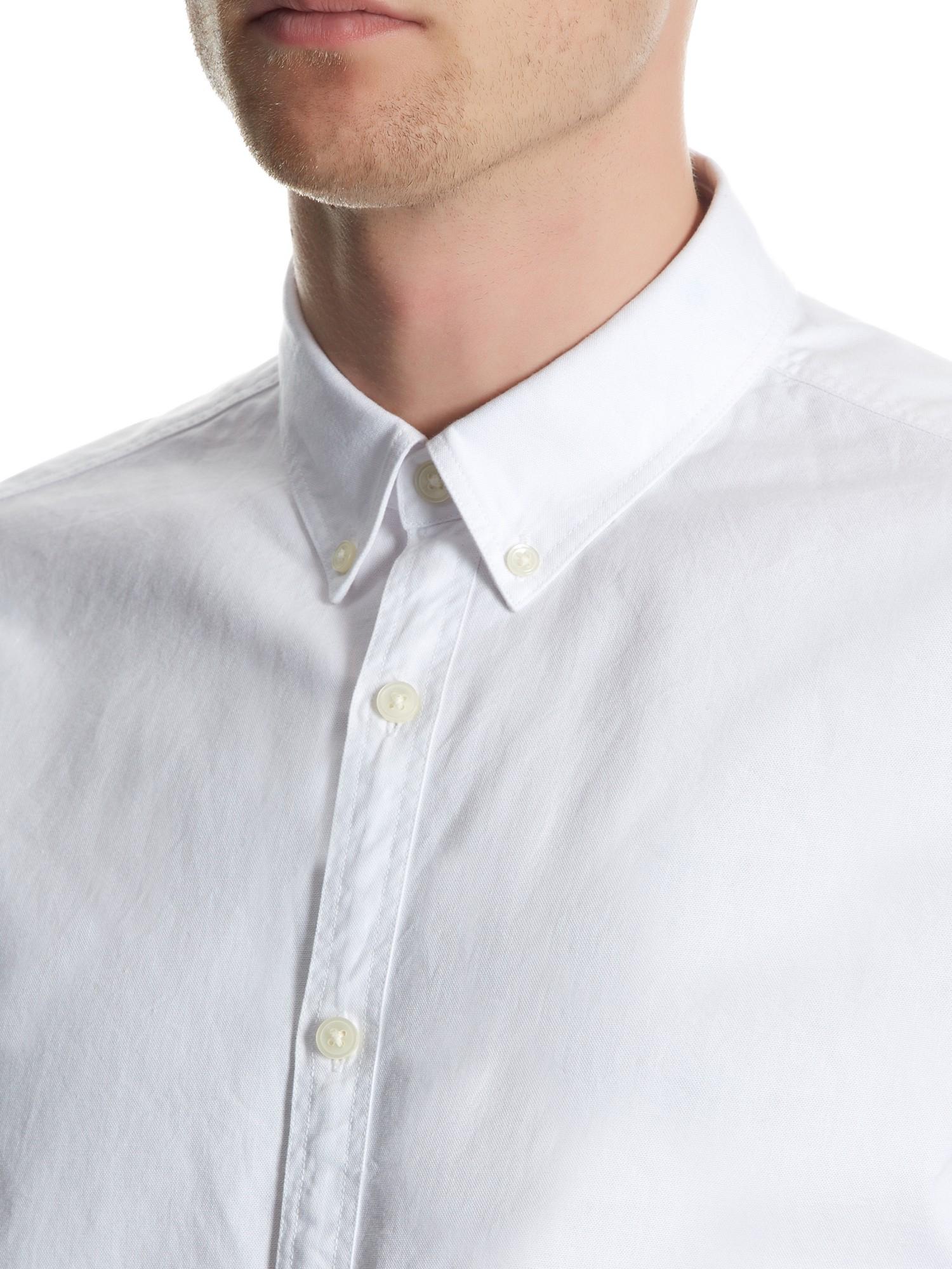 Jaeger Plain Regular Oxford Shirt in White for Men