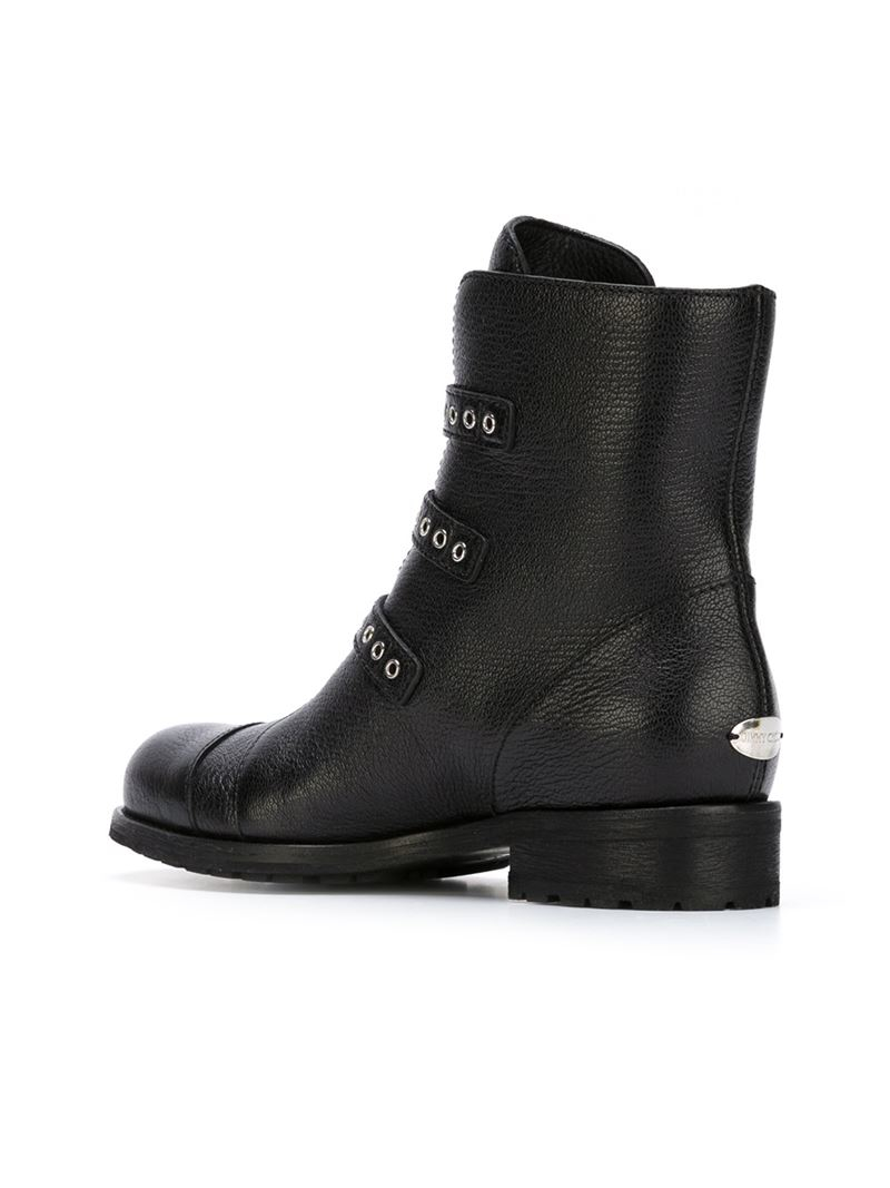 Jimmy Choo Leather 'dover' Boots in Black