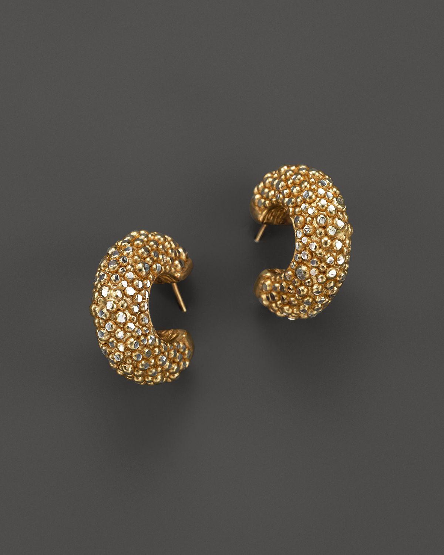 Gallery Previously Sold At Bloomingdale S Women Gold Hoop Earrings