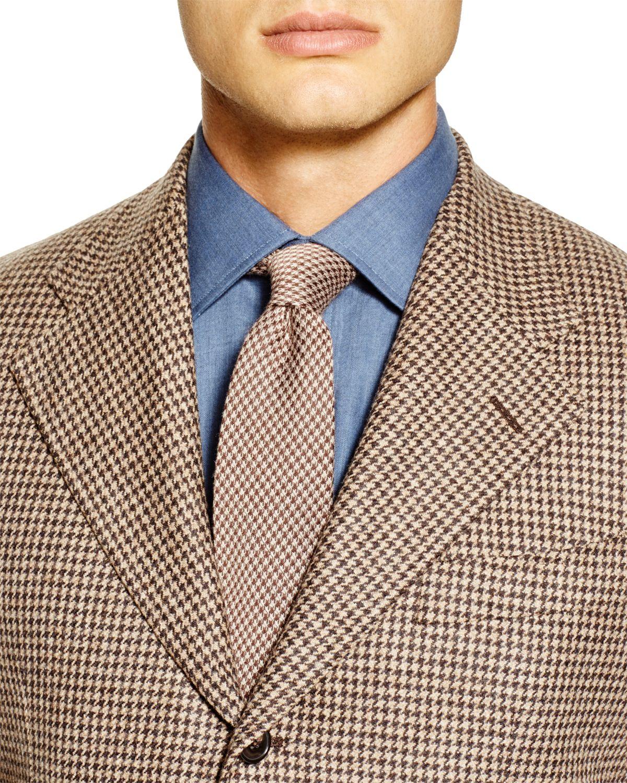 Eidos Houndstooth Regular Fit Sport Coat in Brown for Men | Lyst