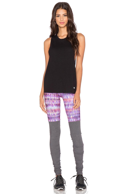 Alo Yoga Goddess Ribbed Legging In Purple